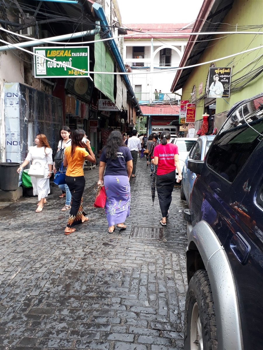 Walking in Yangon City : Myanmar (Aug'18) 71