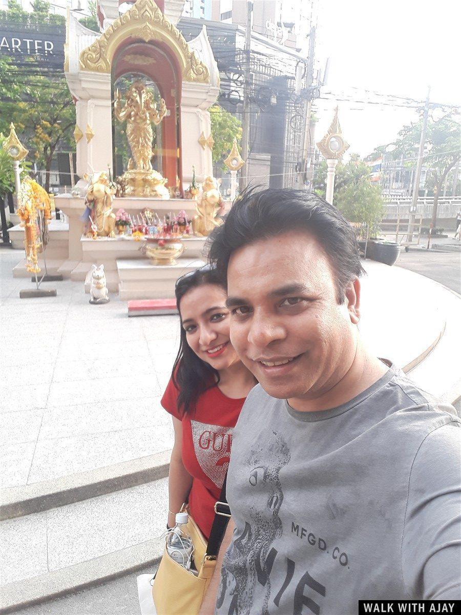 Selfie with my sister at Union Mall just front of Ganesha Temple
