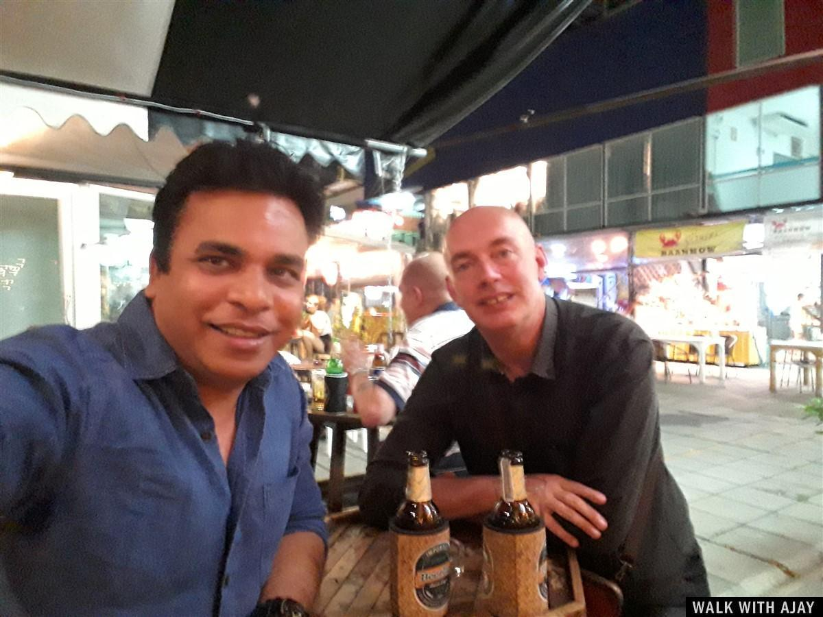 Lao Beer and selfie with my friend