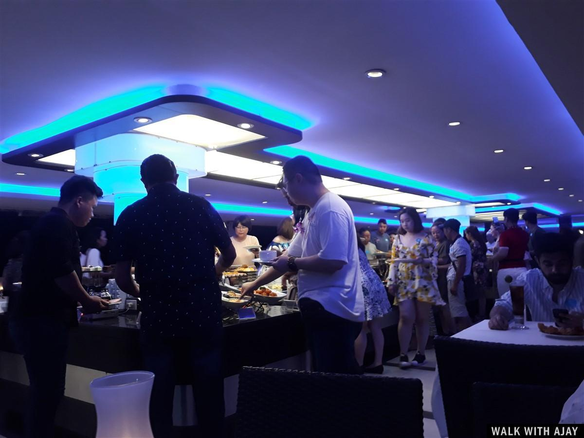People having their meal at cruise