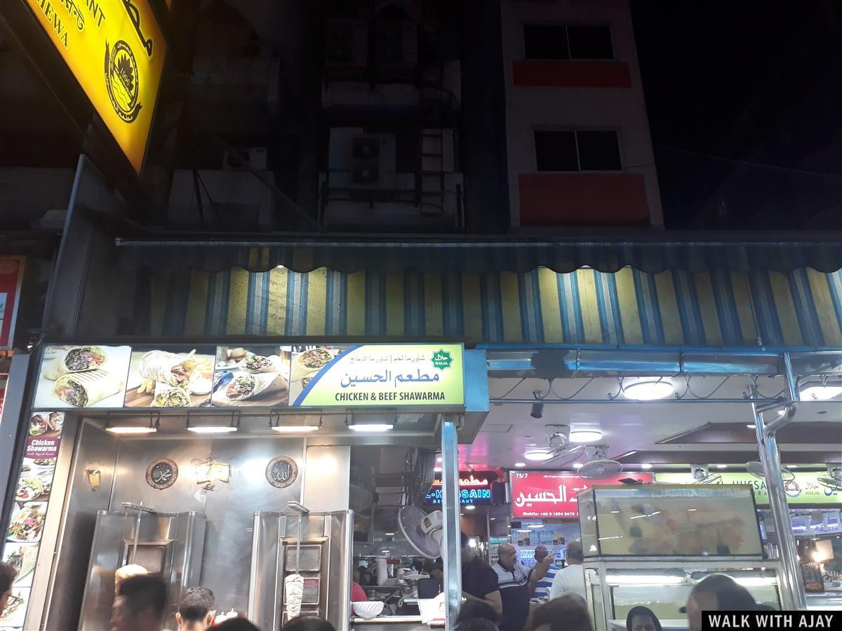 Some chicken and beef shawarma shops , popular food here