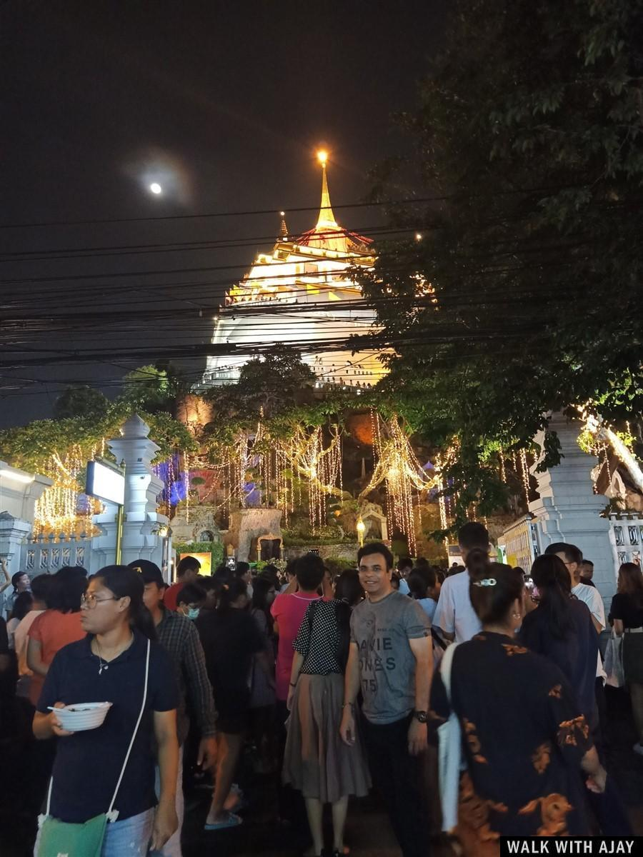 Walking in Wat Saket (Phukhao Thong / The Golden Mount) Temple : Bangkok, Thailand (Nov'19) 10