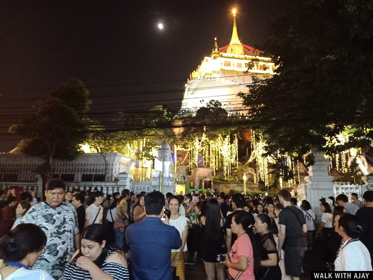 Walking in Wat Saket (Phukhao Thong / The Golden Mount) Temple : Bangkok, Thailand (Nov'19) 19