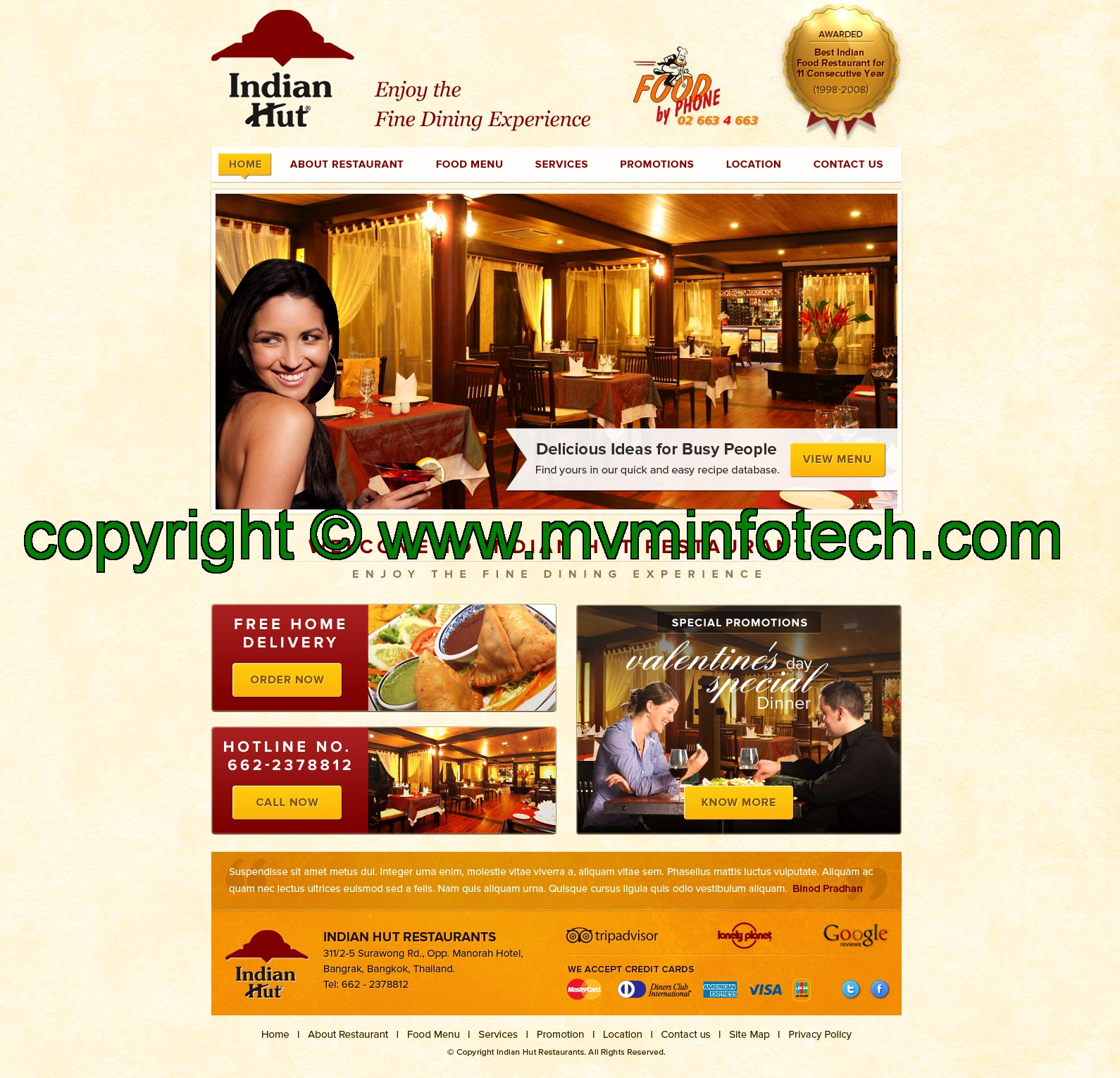Indian restaurant template design walk with ajay for Ajays catering cuisine